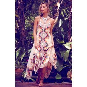 Free People Ibiza Woven Halter Dress, Medium